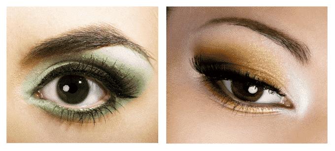 Oogschaduw-oogkleur